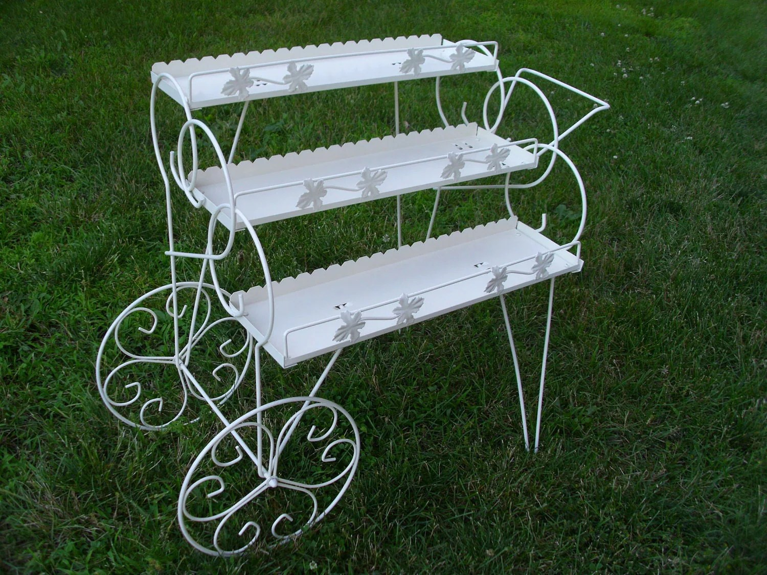 Plant Stands On Wheels Vintage Metal Plant Stand Wheeled Cart