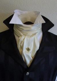 REGENCY Brummel Victorian Ascot Tie Cravat IVORY by ...