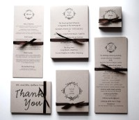 Wedding Invitations & RSVP Postcards: earthy and economical