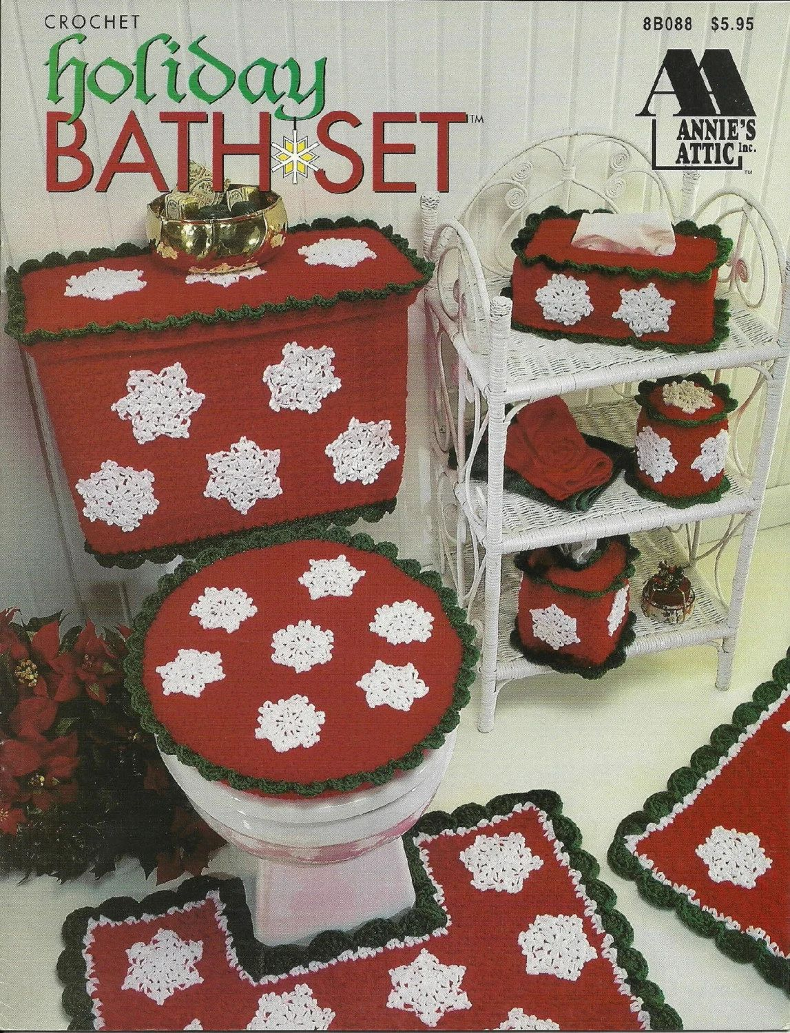 Holiday bath setcrochet bathroom decor pattern book by