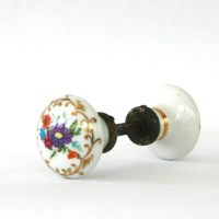 Antique Porcelain Door Knobs. Floral. Flowers. Cottage Chic