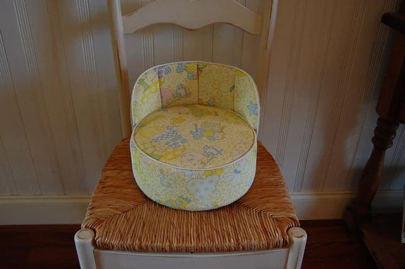 Side Arm Chair Vintage Vinyl Baby Booster Seat By Retrodaisygirl On Etsy