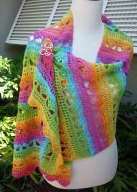 Cascading Stylish Shawl Crochet PATTERN / PDF