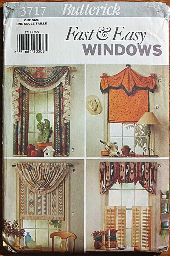 Roman Shades With Curtains Fast & Easy Window Treatments Country Western Theme Windows