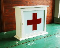 Upcycled Red Cross Medicine Cabinet by BingoBox on Etsy