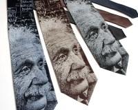 Albert Einstein Necktie Science Tie Physics Gift Geekery