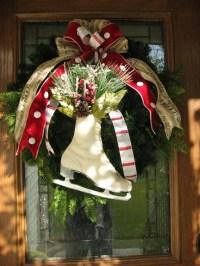 Ice Skate Christmas Wreath