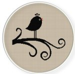 INSTANT DOWNLOAD Free Shipping Cross Stitch Pattern PDF Bird ZXXC