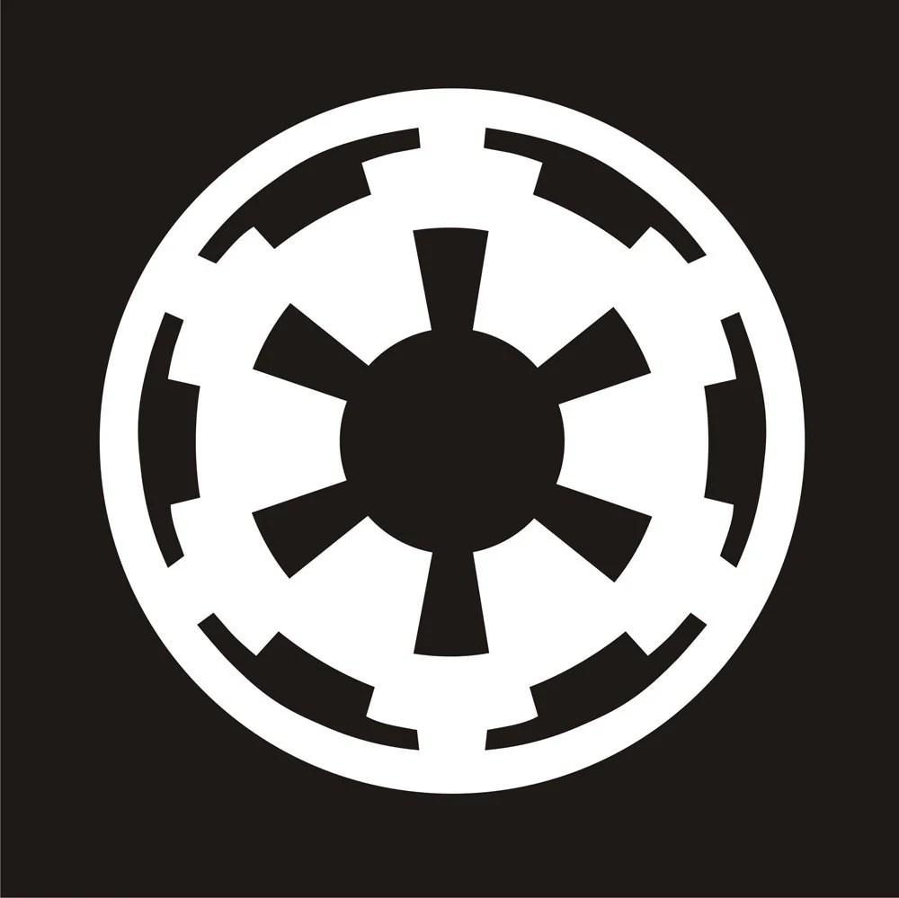 3d Galactic Wallpaper 3x3 Imperial Symbol Star Wars R Sticker Decal