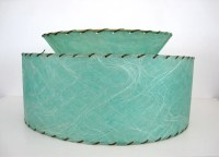 Fiberglass Lamp Shade Two Tier Mid Century by ...