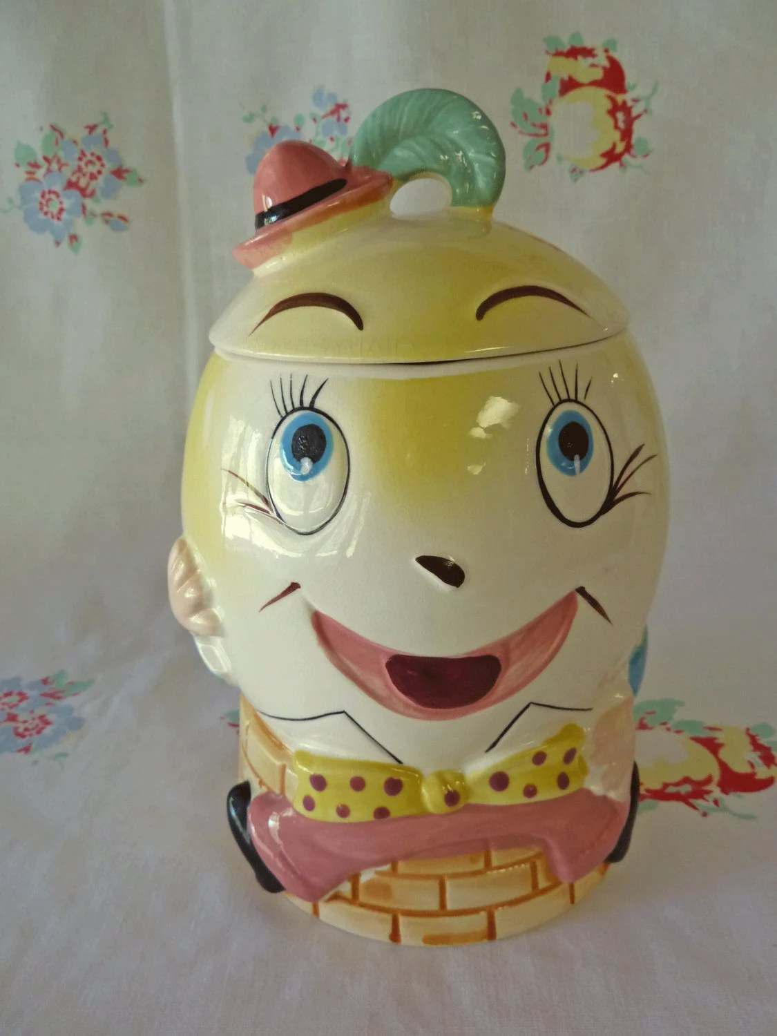 Modern Cookie Jar Enesco Humpty Dumpty Cookie Jar New Old Stock And Never