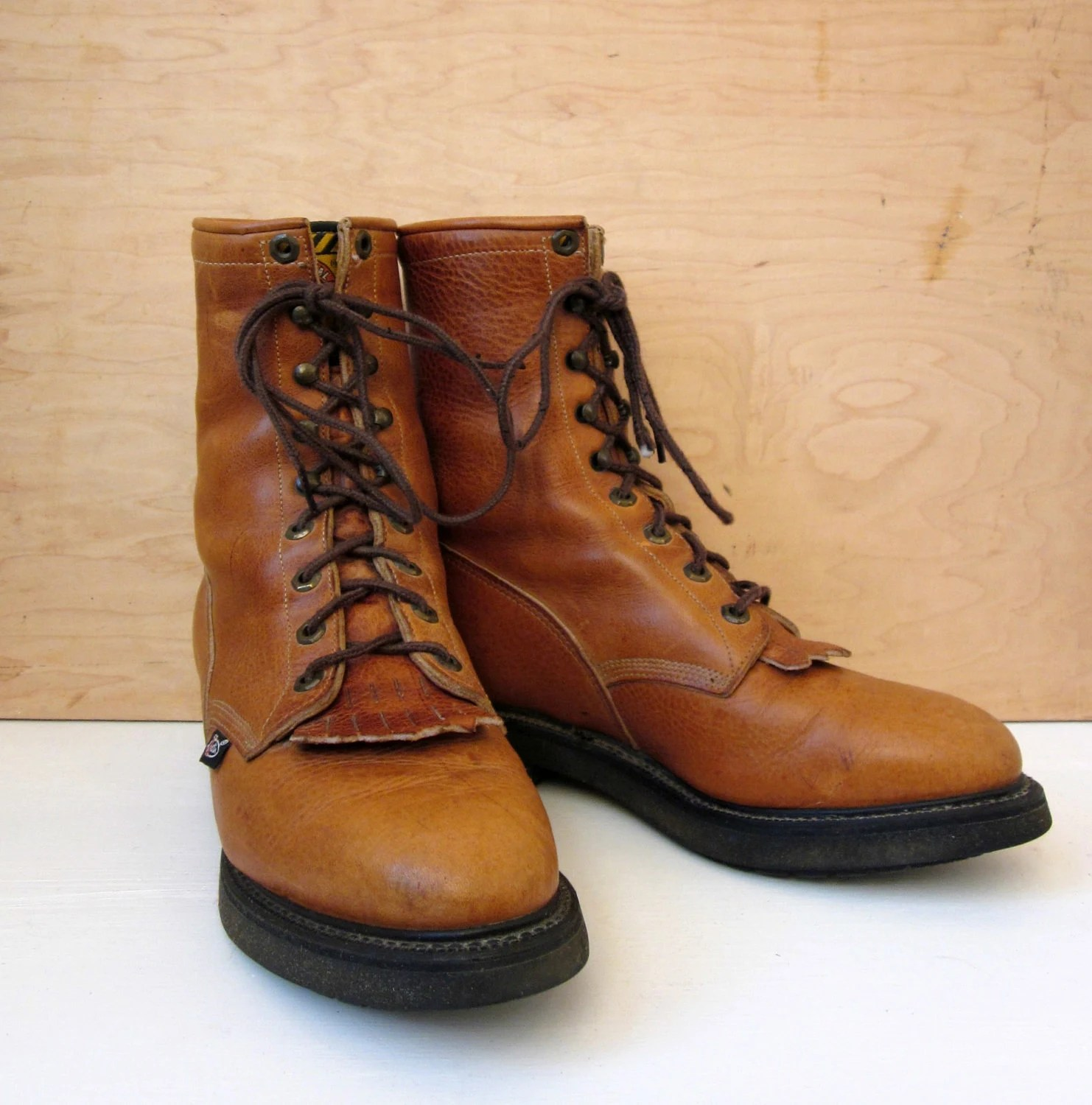 Vintage 7039s Justin Original Work Boots Roper Boots Tall