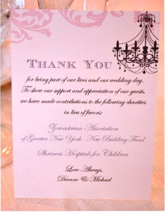 Thank You Note To Donors