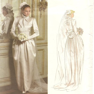 Vintage Vogue Wedding Gown pattern Christian Dior by ...