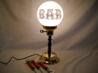 Vintage Bar Lamp and Bar Accessories
