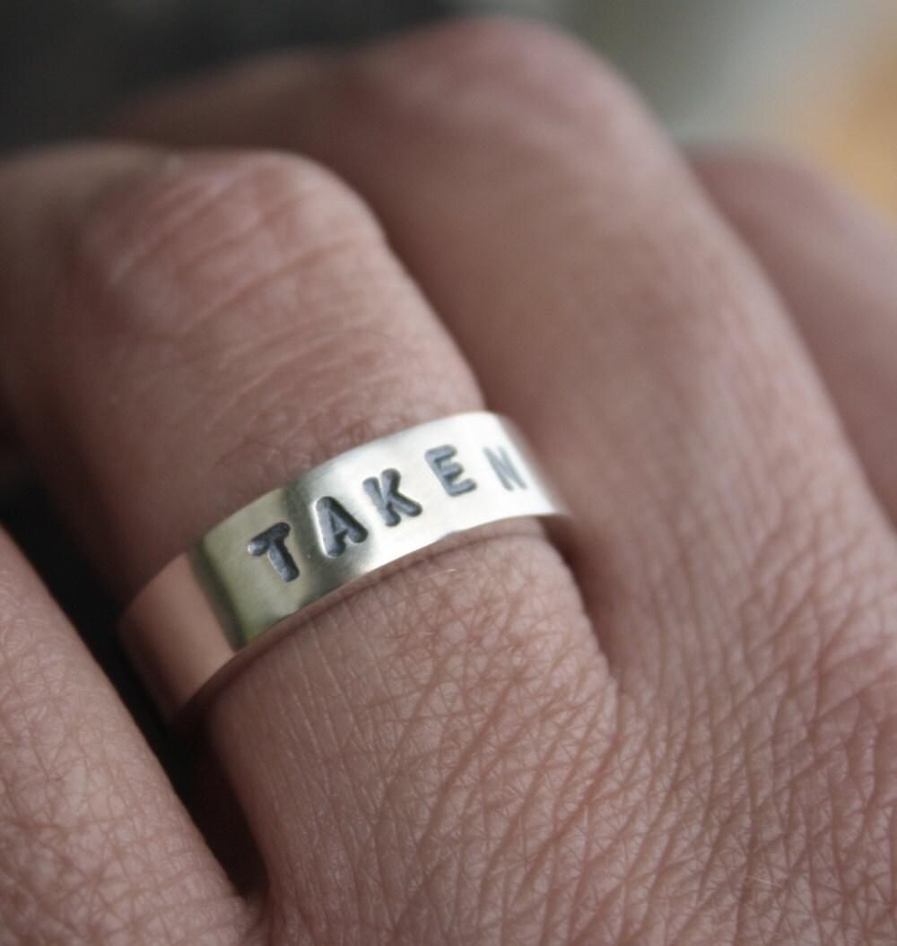 unique mens wedding ring taken ring wedding ring mens zoom