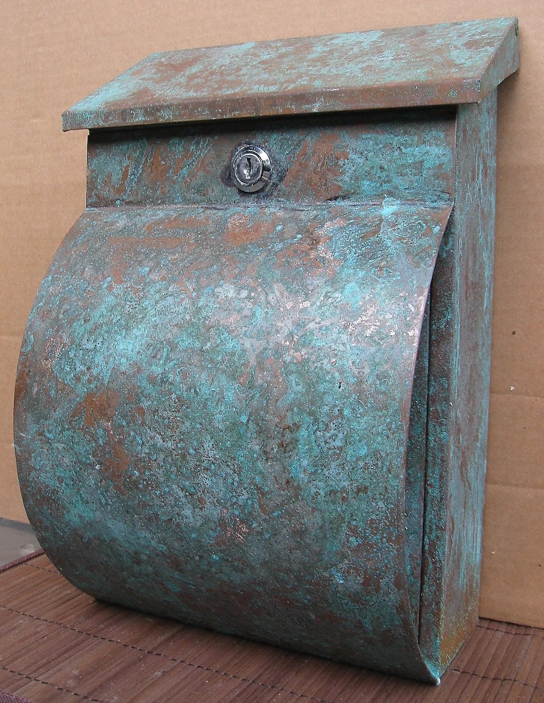 Copper Mailbox Patina Green Patina Copper Mailbox With Newspaper Holder