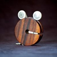 Wood Earbud Holder / Earphone Organizer Cocobolo