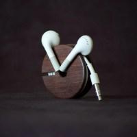 Wood Earbud Holder / Earphone Organizer East Indian Rosewood