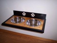 Elevated Wall mounted Dog Dish Holder