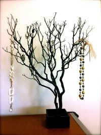30 Black / Painted Tree Jewelry holder / Jewelry