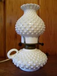 Rare Antique Fenton Finger Lamp Milk Glass by ...
