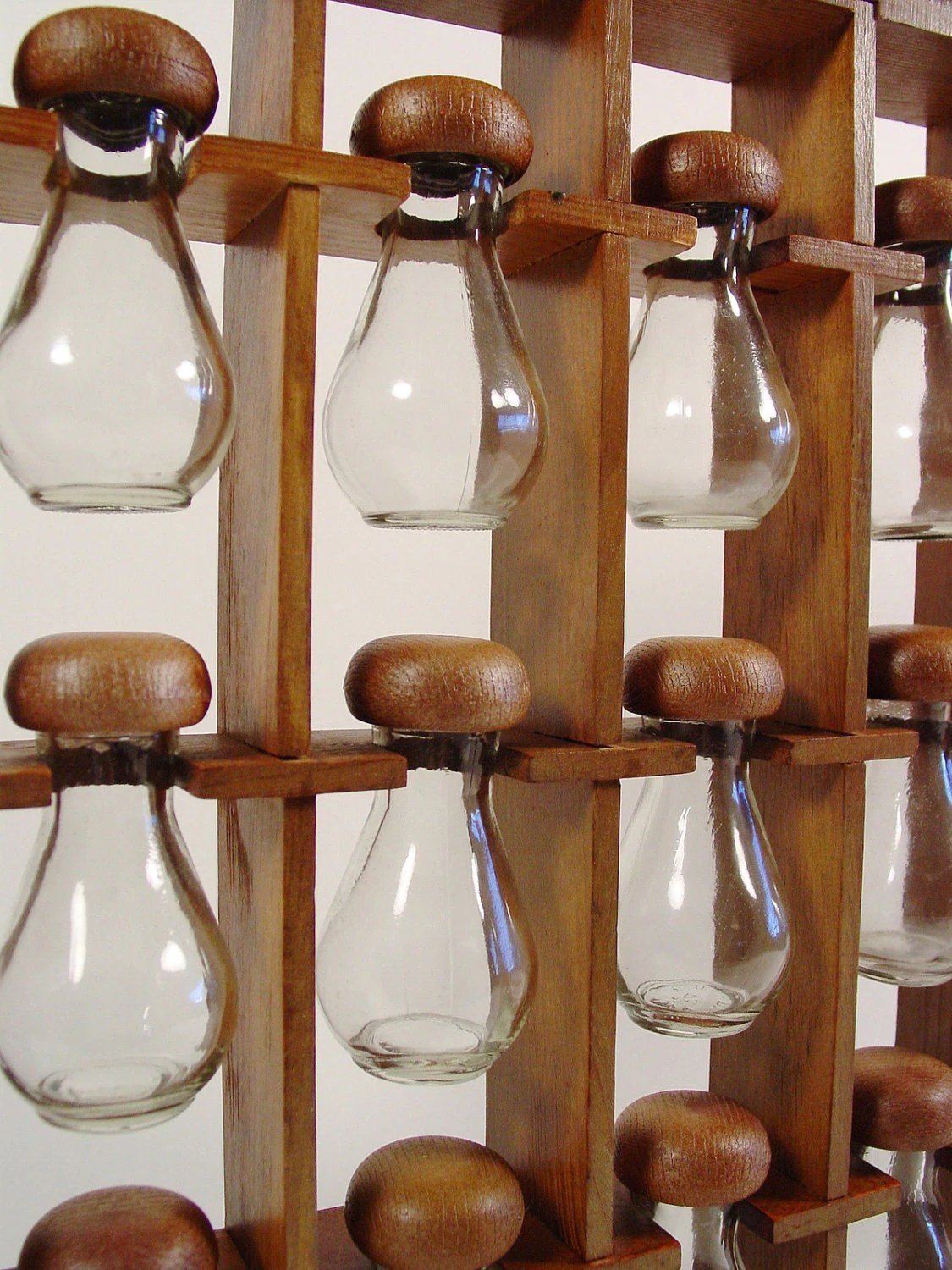 Mid Century Spice Rack Wooden Hanging Spice Rack By