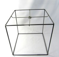 Lamp Shade Frame Square Steel Wire Hand Made in NYC