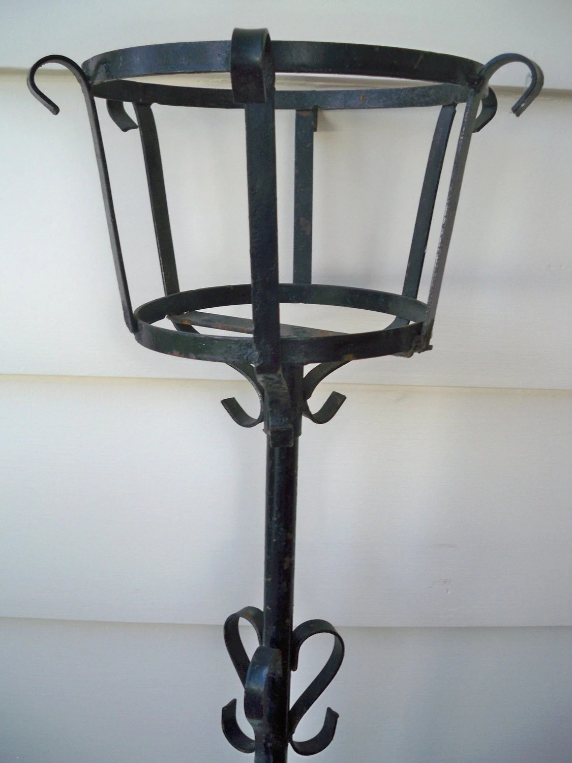 Tall Wrought Iron Plant Stands Vintage Black Wrought Iron Plant Stand