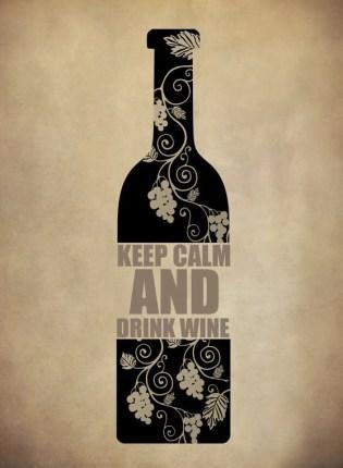 Keep Calm and Drink Wine Art via Etsy