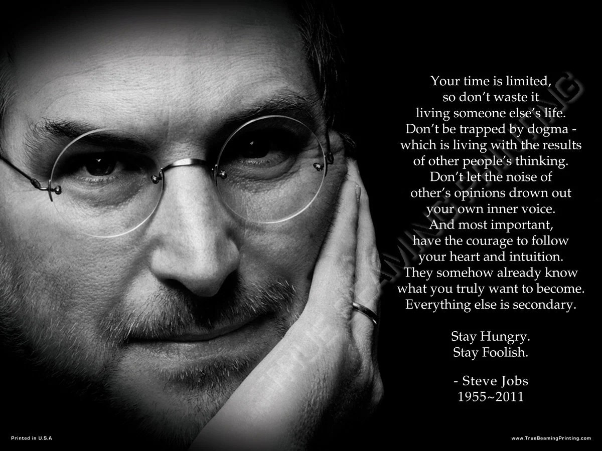 Steve Jobs Quotes Your Time Is Limited Wallpaper 18x24 Steve Jobs Your Time Is