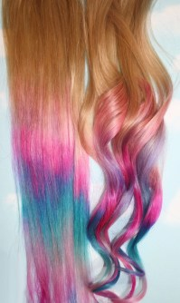 Ombre Tie Dye Hair Tips Set of 2 Dirty Blonde Human Hair