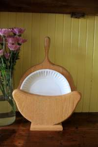 Wooden Paper Plate Holder