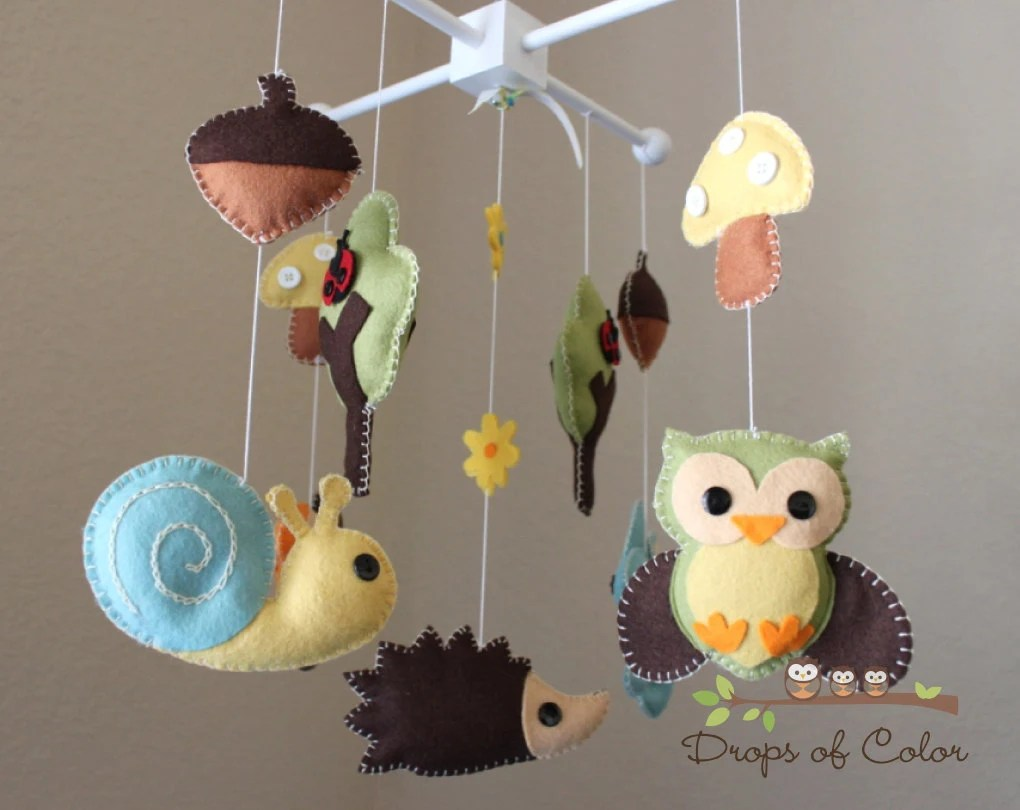 Baby Crib Mobile Baby Mobile Nursery Forest By