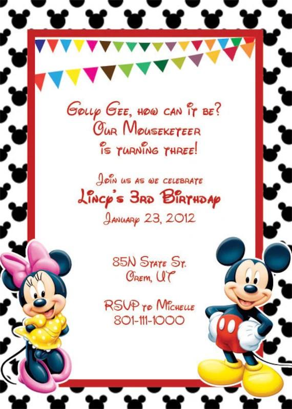 Birthday Invitation Mickey Mouse Template u2013 orderecigsjuiceinfo - format for birthday invitation