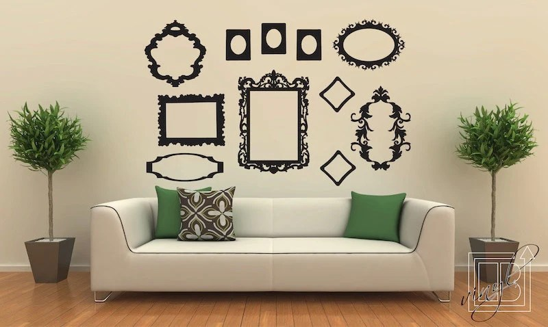 Wall decal frame