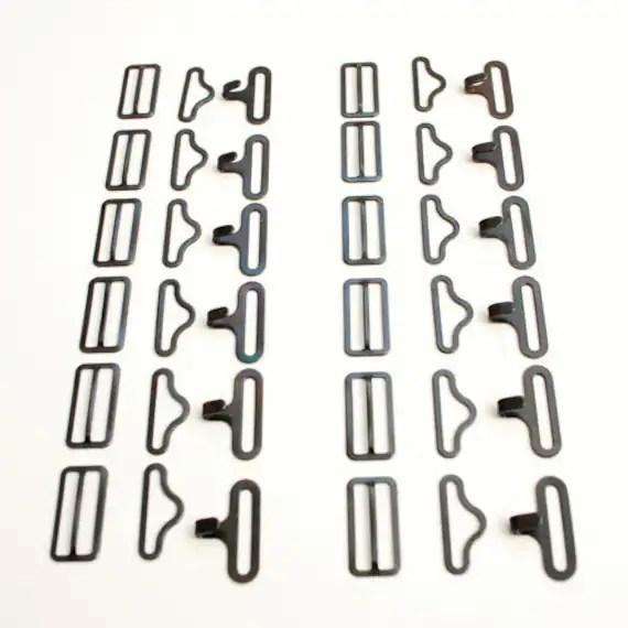 Bow Tie Bowties Hardware Hook Eye Slide Set by