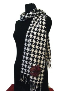 Houndstooth Scarf with University of Alabama by WithTheTide
