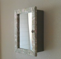 Items similar to Jewelry Box With Mirror, Hanging Jewelry ...