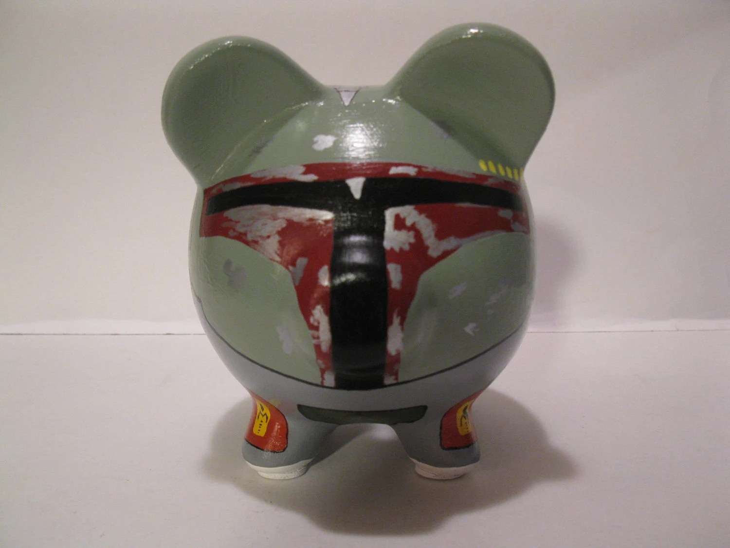 Star Wars Coin Banks Boba Fett Piggy Bank Inspired By Star Wars Made To Order