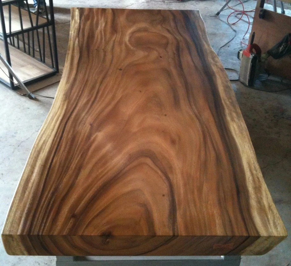 Acacia Tafelblad Live Edge Dining Table Reclaimed Acacia Wood Solid Slab