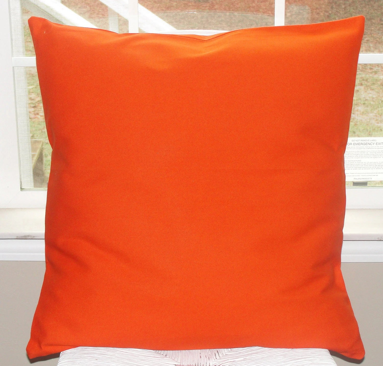 Bright Orange Pillow Cover 20x20 Duck Canvas