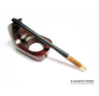 Vintage Slim Cigarette Holder Women's Leather by FashionPipes