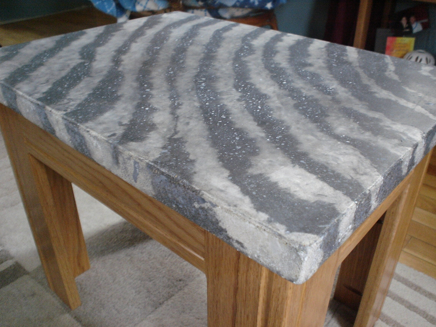 Concrete Table Top Concrete Zebra Print Table Top Only Top