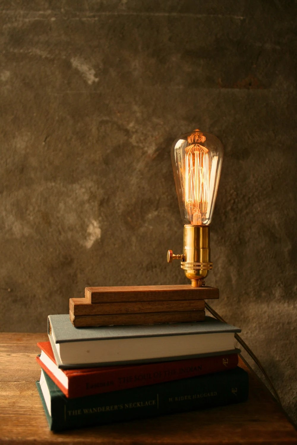 Boog Lamp Wood Lamp Diy Book Lamp Industrial Light Shabby Chic Cool