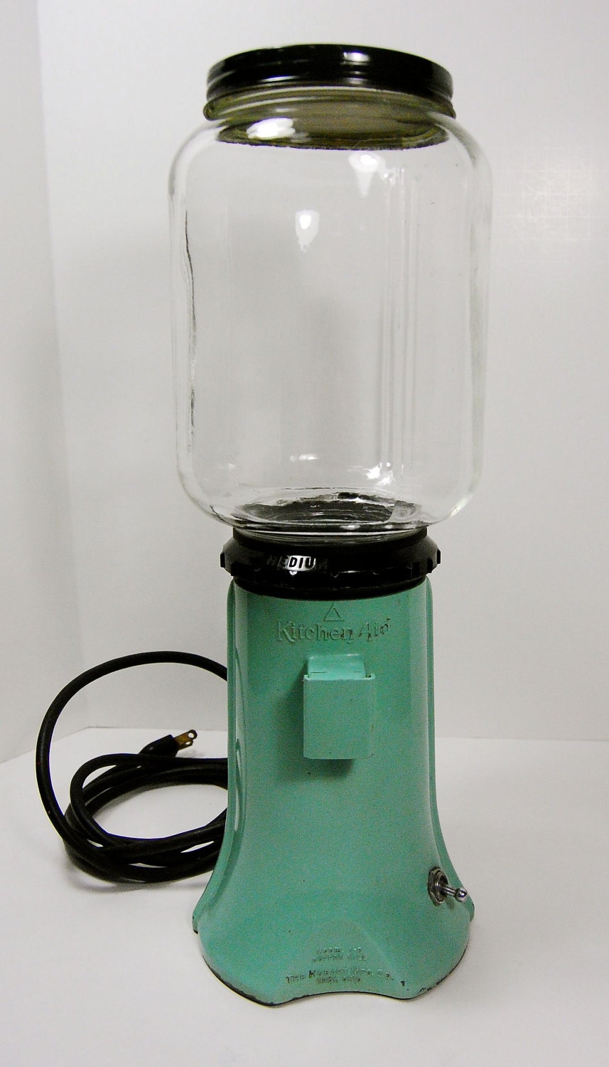Kitchen Aid Mixer Kitchenaid A-9 Electric Burr Coffee Grinder. Rare Mint Green