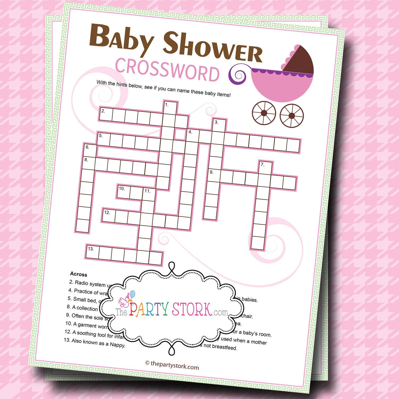 sopa de letras para baby shower