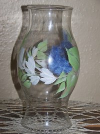 Items similar to Hand Painted Hurricane lamp globe. Glass ...