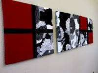 Black And Red Wall Art - b Wall Decal
