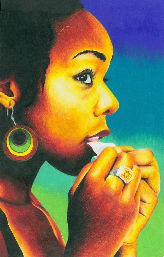 Marijuana Animated Wallpaper Items Similar To Jamaican Reggae Rasta Girl Smoking 24 X